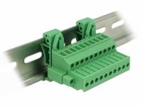 Terminalblock Set für Hutschienen 10 Pin mit Schraubverriegelung