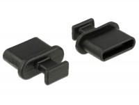 Staubschutz für USB Type-C Buchse mit Griff 10 Stück schwarz