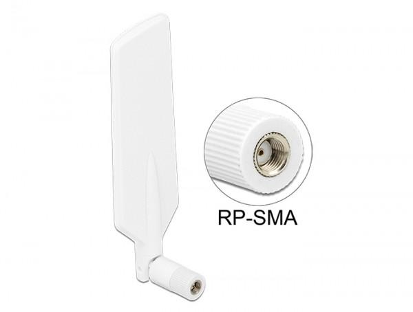 LTE WLAN Dualband Antenne RP-SMA 1 ~ 4 dBi omnidirektional drehbar mit Kippgelenk weiß