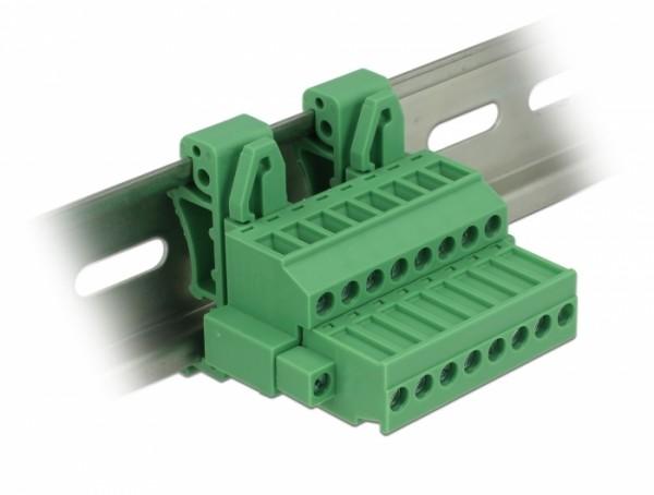 Terminalblock Set für Hutschienen 8 Pin mit Schraubverriegelung