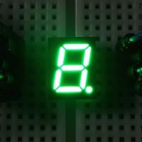 7-Segment-Anzeige, 10mm, gemeinsame Anode, 140mcd, grün