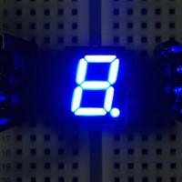7-Segment-Anzeige, 10mm, gemeinsame Anode, 60mcd, blau