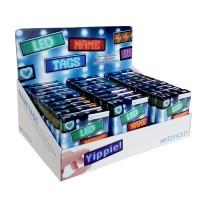 LED Name Tag, 11x44 Pixel, USB - Thekendisplay mit 30 Stück, farblich sortiert