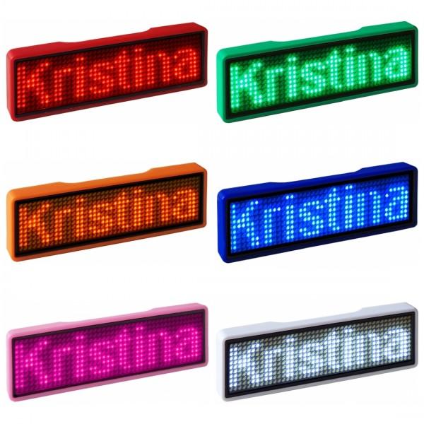 LED Name Tag, 11x44 Pixel, USB, unifarben