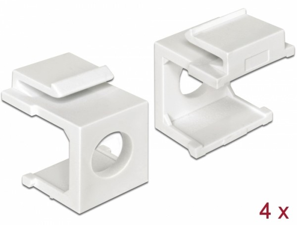 Keystone Abdeckung weiß mit 8 mm Durchführung 4 Stück