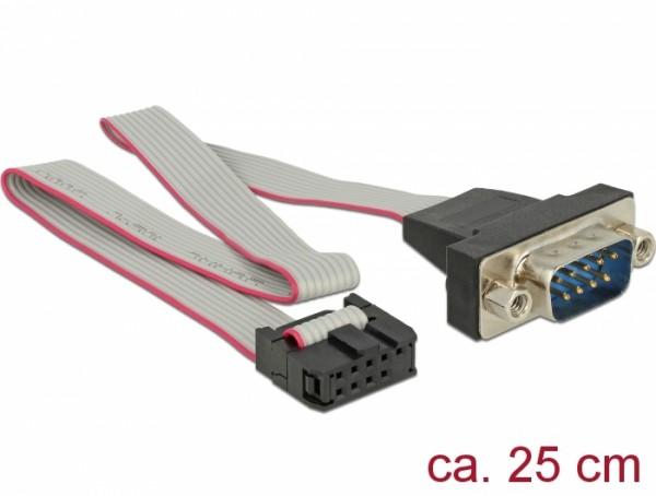 Kabel RS-232 Seriell Pfostenbuchse zu DB9 Stecker Belegung 1:1