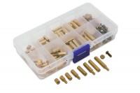 120-teiliges Messing Abstandshalter Sortiment in Kunststoffbox, Größe: M3,0